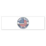 4th of July Souvenir Flag Bumper Sticker (10 pk)