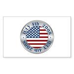 4th of July Souvenir Flag Rectangle Sticker