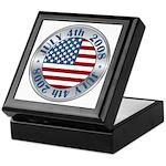 4th of July Souvenir Flag Keepsake Box