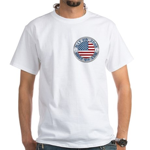 4th of July Souvenir Flag White T-Shirt