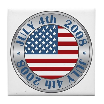 4th of July Souvenir Flag Tile Coaster