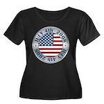4th of July Souvenir Flag Women's Plus Size Scoop