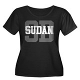 SD Sudan Women's Plus Size Scoop Neck Dark T-Shirt