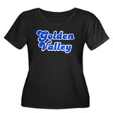 Retro Golden Valley (Blue) Women's Plus Size Scoop