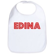 Retro Edina (Red) Bib