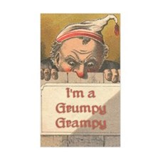 Grumpy Grampy Rectangle Decal