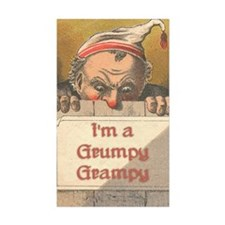 Grumpy Grampy Rectangle Sticker 50 pk)