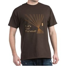 Copper Effect Text T-Shirt
