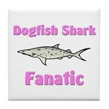 Dogfish Shark Fanatic Tile Coaster