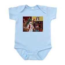 Santa & Akita Infant Bodysuit
