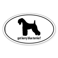 Got Kerry Blue Terrier? Oval Decal