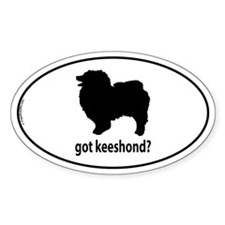 Got Keeshond? Oval Decal