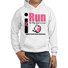 I Run For Breast Cancer Hoodie