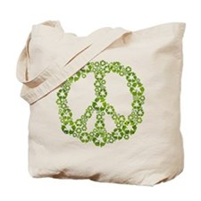 Green Recycle Peace Tote Bag
