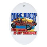 Dune Buggy Sandbox Oval Ornament
