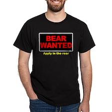 Bear Wanted-Apply Rear Black T-Shirt