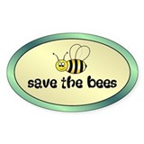 SAVE BEES Oval Decal