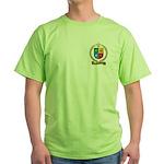BEDARD Family Crest Green T-Shirt