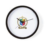 BEDARD Family Crest Wall Clock