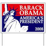 Obama: America's President Yard Sign