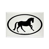 Canter Horse Oval Rectangle Magnet