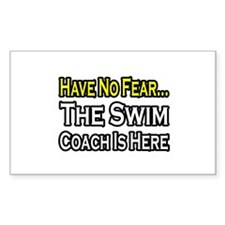 """Have No Fear, Swim Coach"" Rectangle Sticker 50 p"