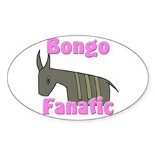 Bongo Fanatic Oval Sticker