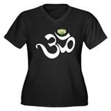 Om Women's Plus Size V-Neck Dark T-Shirt