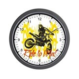 Ride to Win Motocross Wall Clock