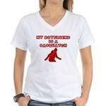 FUNNY BOYFRIEND SHIRT MY BOYF Women's V-Neck T-Shi