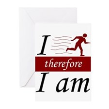 I run, therefore I am Greeting Cards (Pk of 10)
