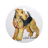 Airedale Terriers Rock! Ornament (Round)