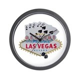 Royal Flush LV Wall Clock