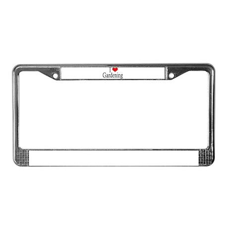 I Heart Gardening License Plate Frame