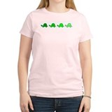 Turtles In Line Women's Pink T-Shirt