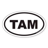 TAM Euro Oval Bumper Stickers