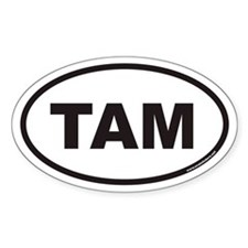 TAM Euro Oval Decal