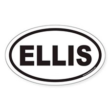 ELLIS Euro Oval Decal