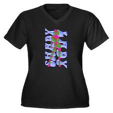 Shady Lady Women's Plus Size V-Neck Dark T-Shirt