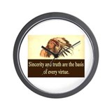 SINCERITY AND TRUTH QUOTE Wall Clock
