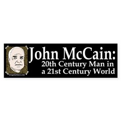 John McCain: 20th Century Man Bumper Sticker