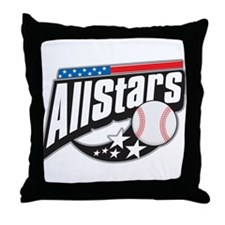 Baseball All Stars Throw Pillow