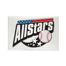Baseball All Stars Rectangle Magnet