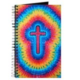 Red Rainbow Cross Tie Dye Art Tie Dye Art Journal