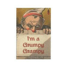 Grumpy Grampy Rectangle Magnet