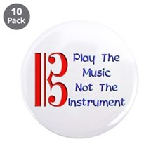 """Play the Music Alto Clef 3.5"""" Button (10 pack)"""