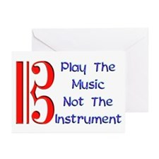 Play the Music Alto Clef Greeting Cards (Pk of 20)
