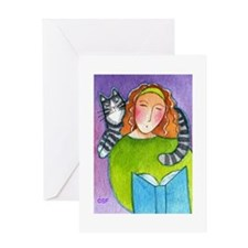 LIBRARY CAT No. 8...Purr-fect Day Greeting Card