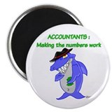 Shark Accountant Magnet