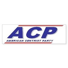 American Centrist Party Bumper Bumper Sticker